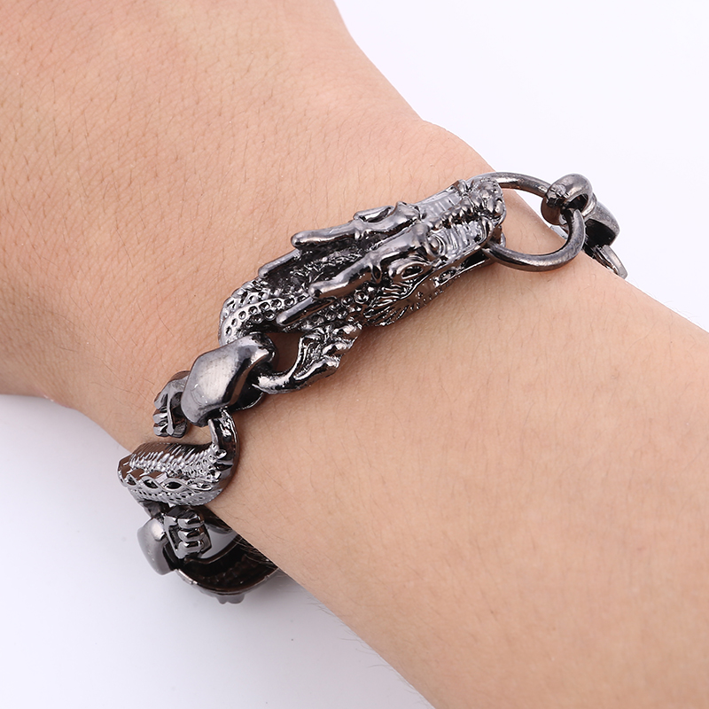 Stainless Steel Bracelet Charms: ZOSHI 3 Colors Men's Bracelets & Bangles Stainless Steel
