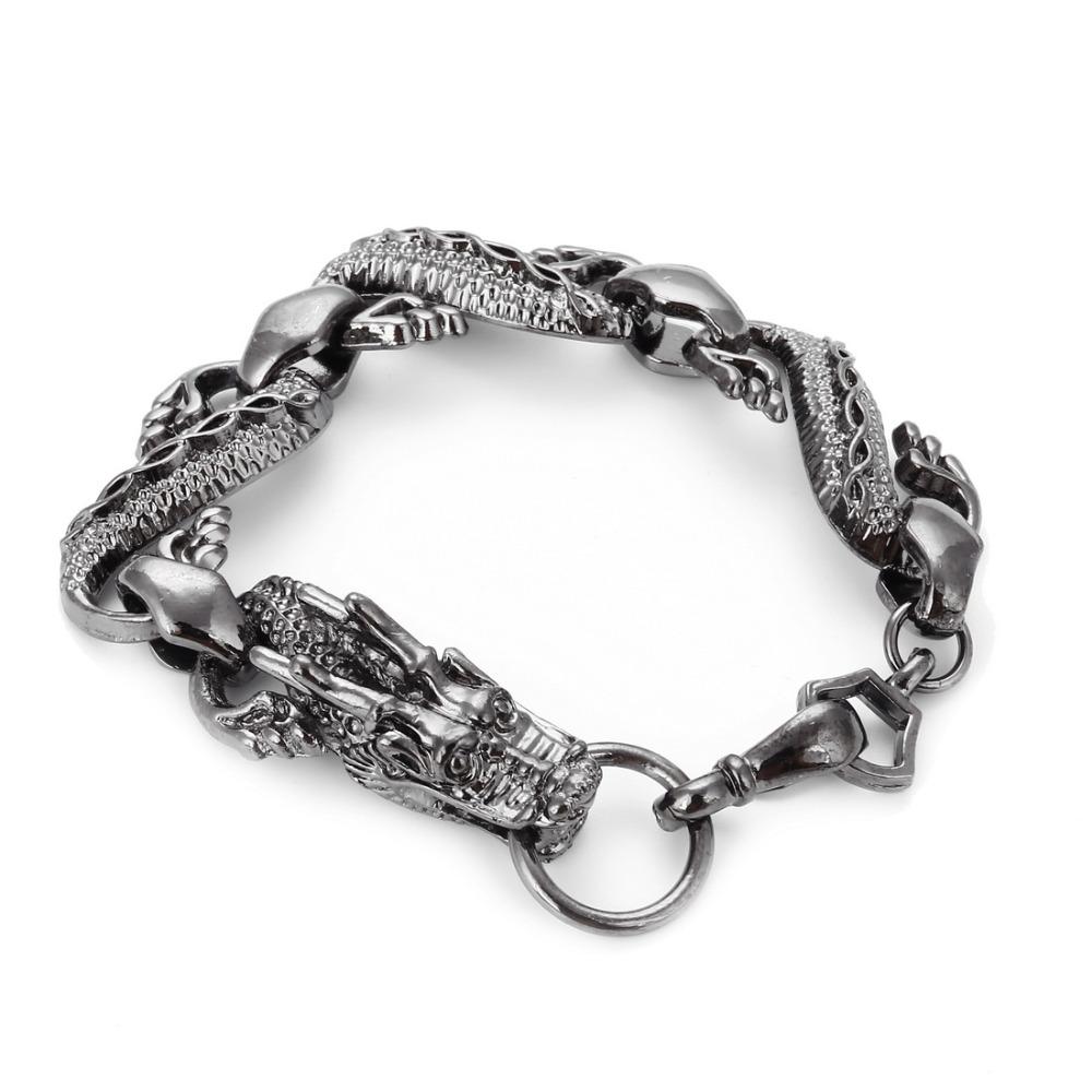 ZOSHI 3 Colors Men's Bracelets & Bangles Stainless Steel Charm Bracelet Jewelry for ...